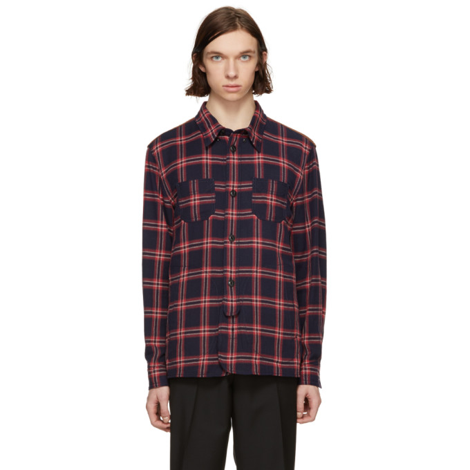 Image of Coach 1941 Red & Blue Plaid Shirt