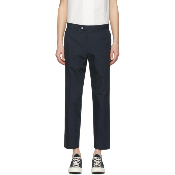 Image of Childs Navy False Hem Trousers