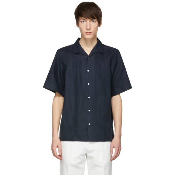 Image of Childs Navy Linen Canopy Shirt