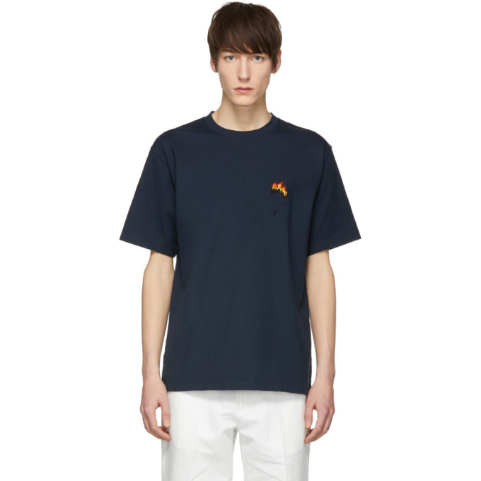 Image of Childs Navy Embroidered Clean T-Shirt