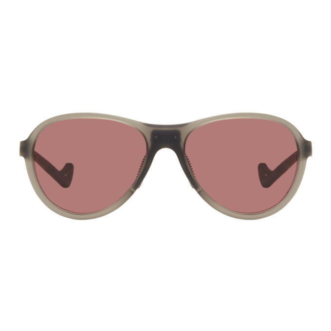 Image of District Vision Grey & Pink Kaishiro Explorer Sunglasses