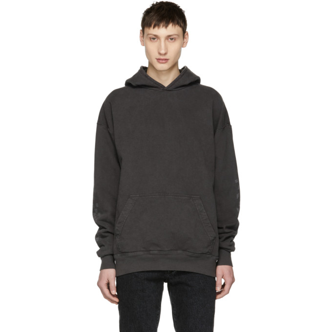 Image of Rhude Black Falling Checkers Rhacer Hoodie