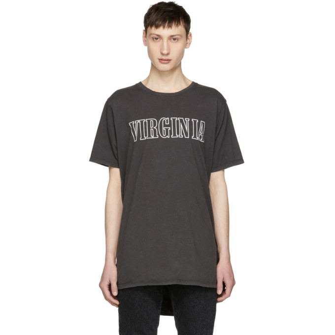 Image of Rhude Black 'Virginia' T-Shirt
