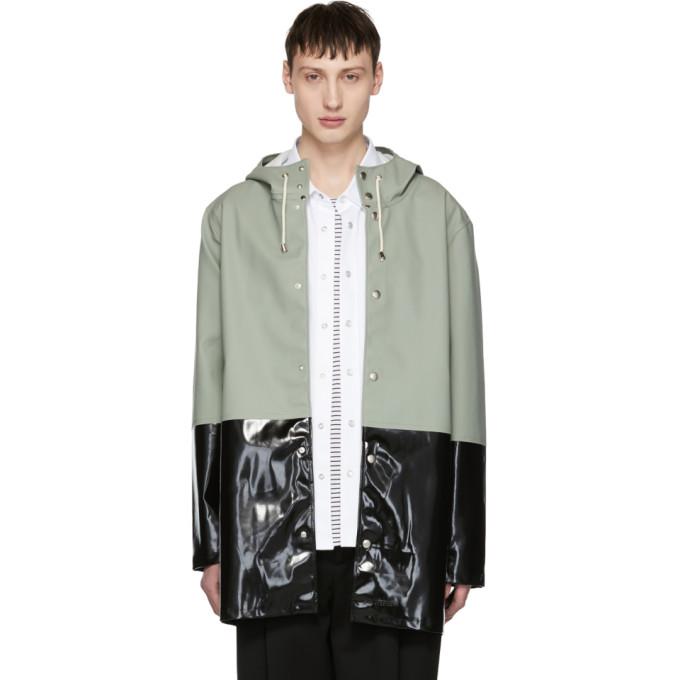 Image of Stutterheim Green & Black Stockholm Raincoat