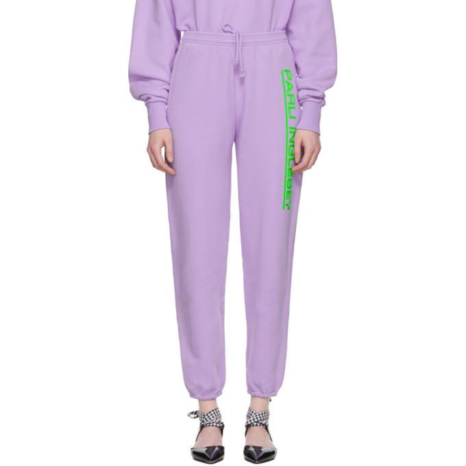Image of Ashley Williams Purple David Track Pants