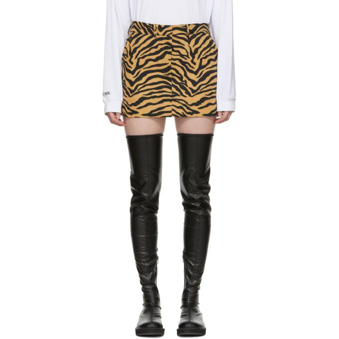 Image of Ashley Williams Brown Tiger Executive Skirt