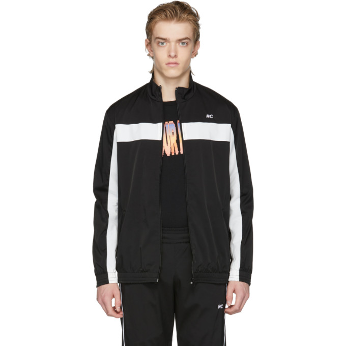 Image of Resort Corps Black & White RC Zip-Up Track Jacket