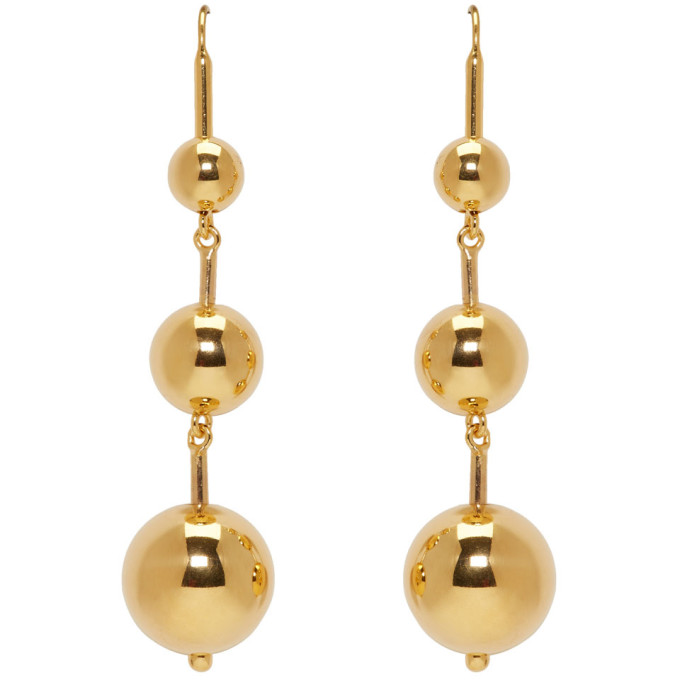 Image of Sophie Buhai SSENSE Exclusive Gold Maryam Earrings