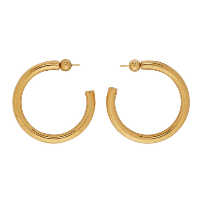 Image of Sophie Buhai Gold Medium Everyday Hoop Earrings