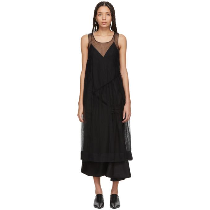 Image of Molly Goddard Black Robyn Dress