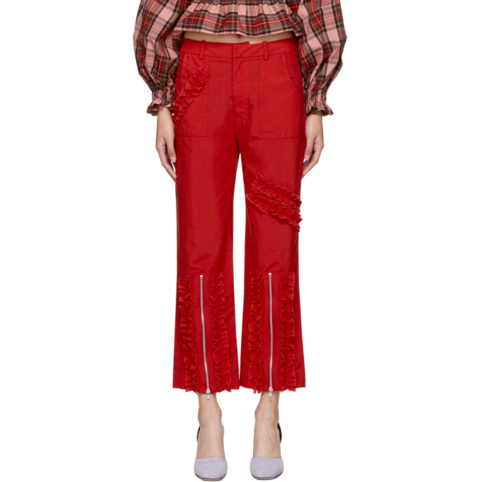 Image of Molly Goddard Red Nancy Trousers