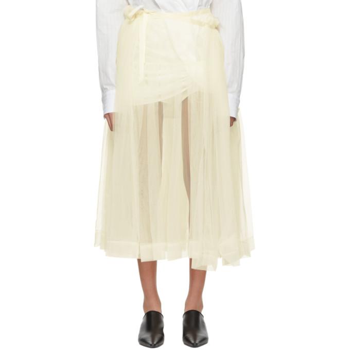 Image of Molly Goddard Ivory August Skirt
