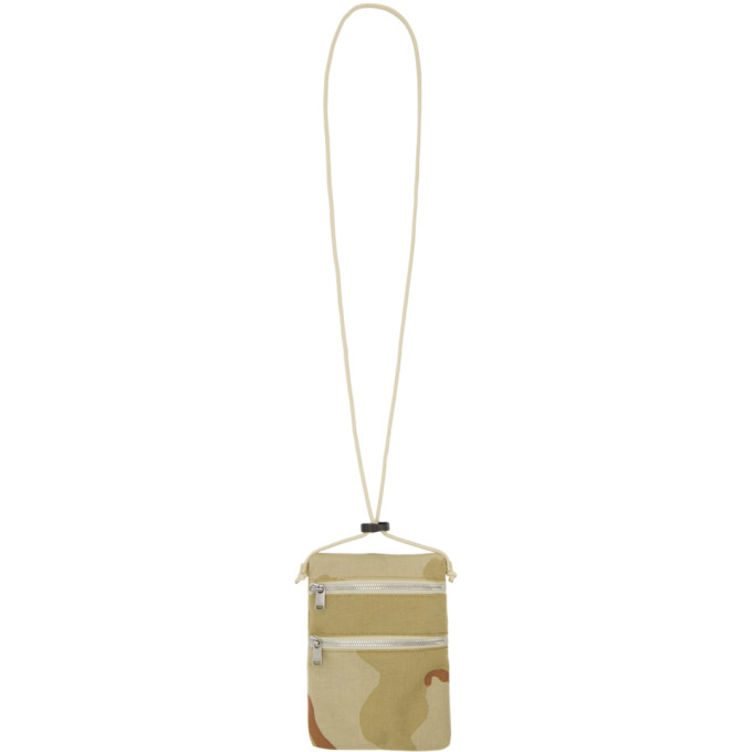 Image of nonnative Beige Camouflage Tourist Sacoche Bag