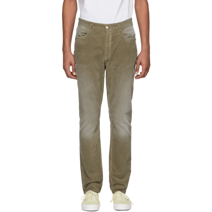 Image of nonnative Green Corduroy Dweller Trousers