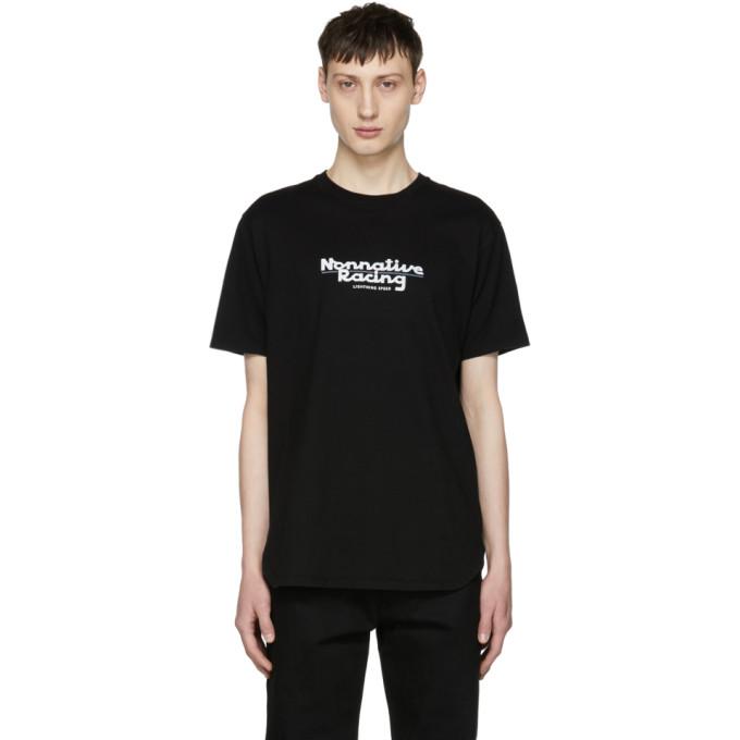 Image of nonnative Black Racing Logo T-Shirt