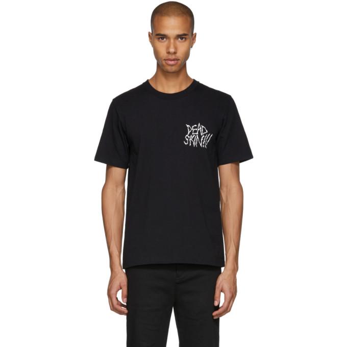 Image of Wacko Maria Black Neck Face Edition 'Dead Skin' T-Shirt
