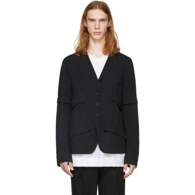 Image of The Viridi-anne Black Removable Sleeves Jacket