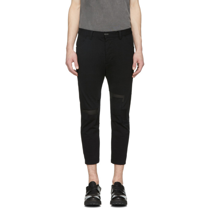 The Viridi-anne Black Patch Trousers