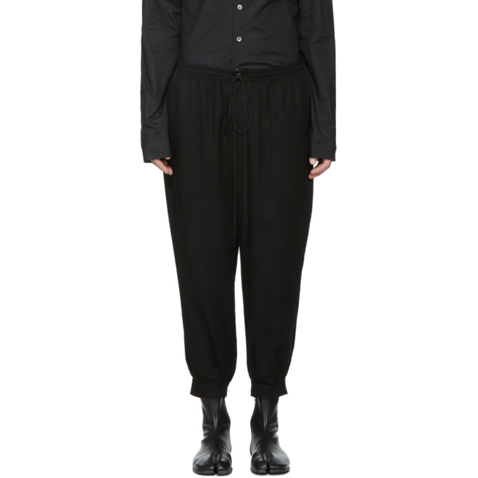 Image of The Viridi-anne Black Loose-Fit Trousers