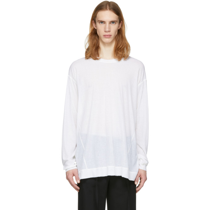 The Viridi-anne White Back Stripe Pullover