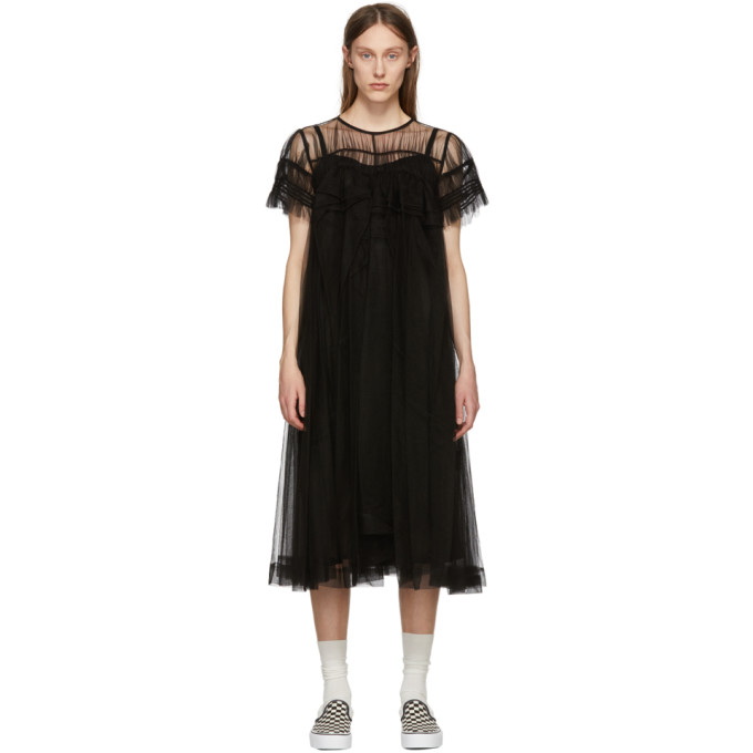 Image of Chika Kisada Black Tulle Dress