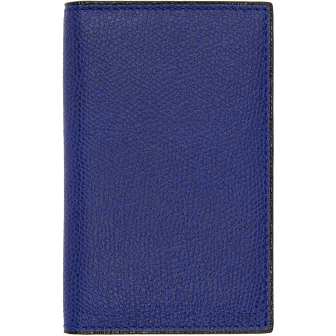 Image of Valextra Blue Business Card Holder