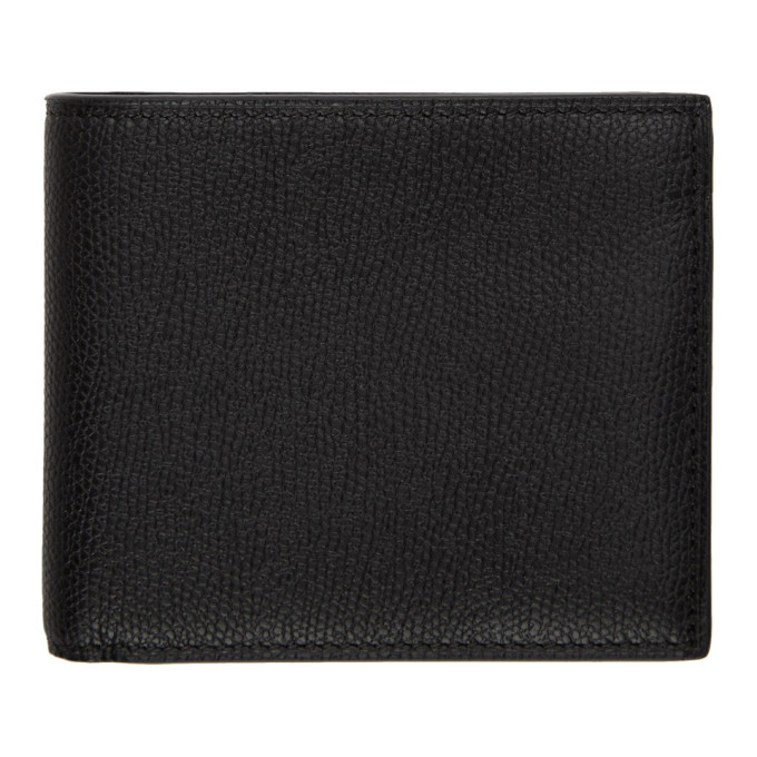 Image of Valextra Black 6CC Bifold Wallet