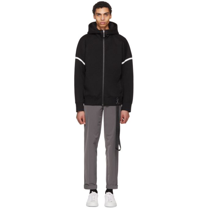 Image of BLACKBARRETT by Neil Barrett Black Drop Shoulder Zip Hoodie