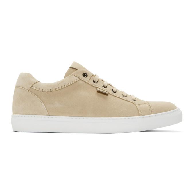 Image of Brioni Beige Suede Derrick Sneakers