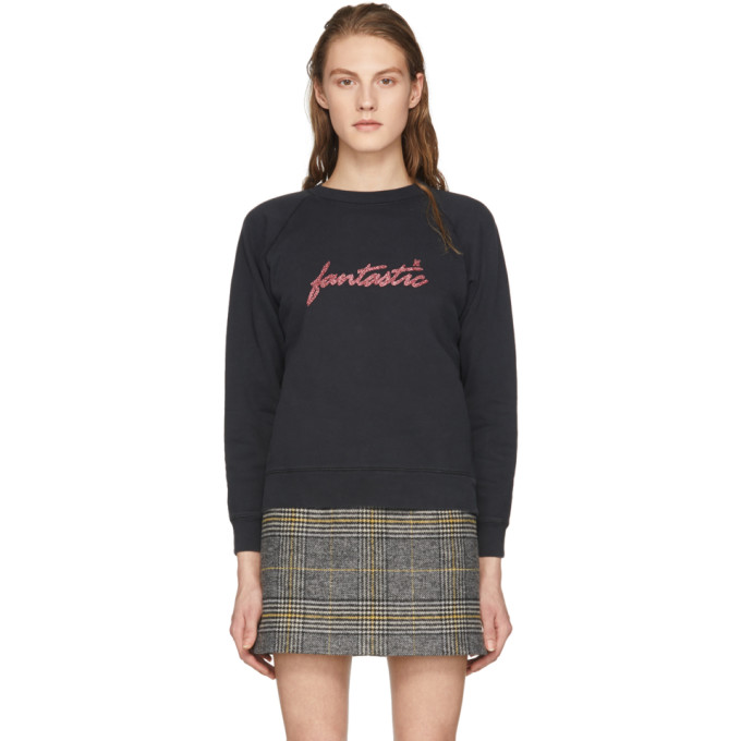 Image of Alexachung Black 'Fantastic' Sweatshirt