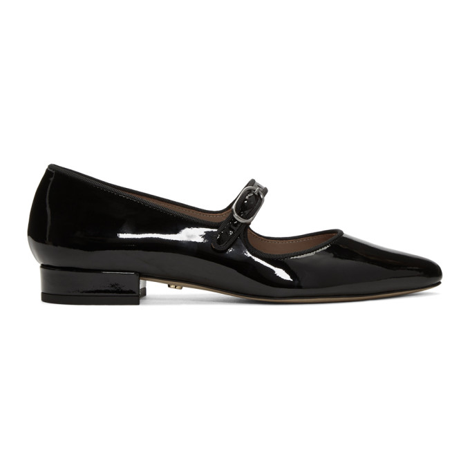Image of Alexachung Black Mary Jane Ballerina Flats