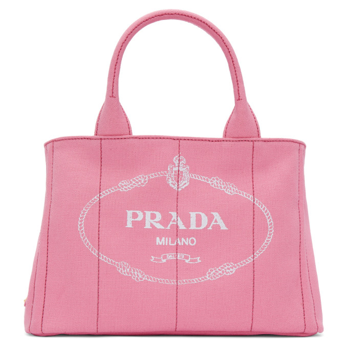 Prada Pink Small Gardener Canvas Tote