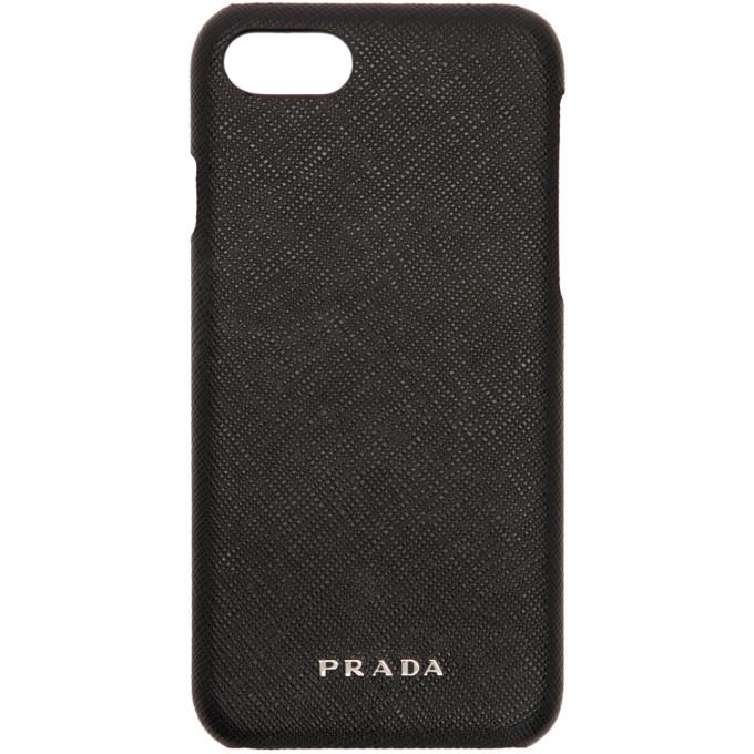 Prada ブラック サフィアーノ iPhone 7 ケース