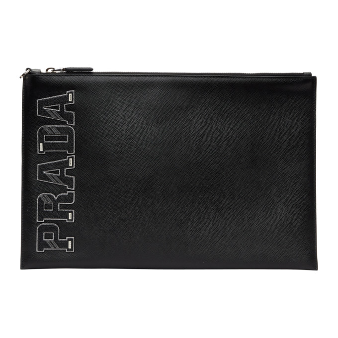 Prada Black Saffiano Document Holder