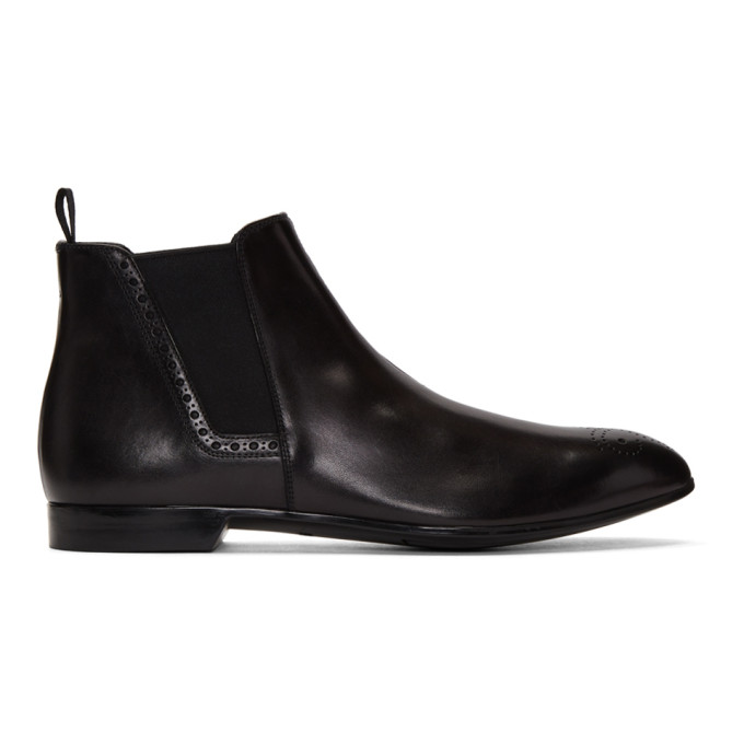 Prada Black Short Chelsea Boots
