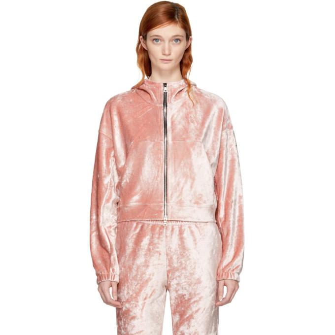 NikeLab Pink Velour Essentials Hoodie