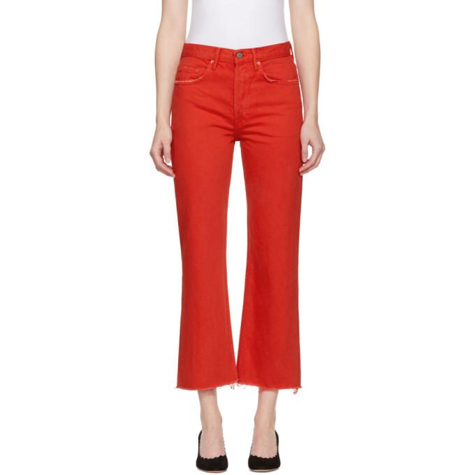 Grlfrnd Red Linda Jeans