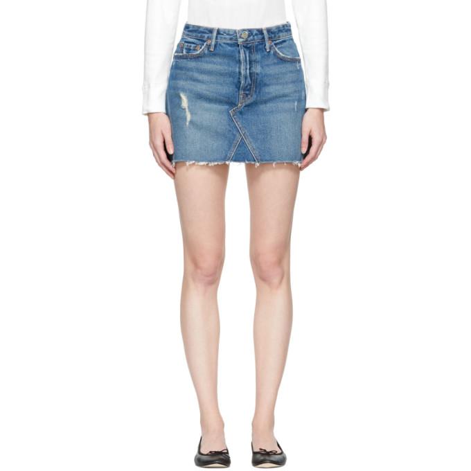 Image of Grlfrnd Blue Denim Eva Miniskirt