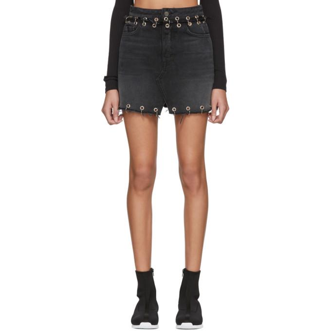 Image of Grlfrnd Black Milla Hardware Denim Skirt