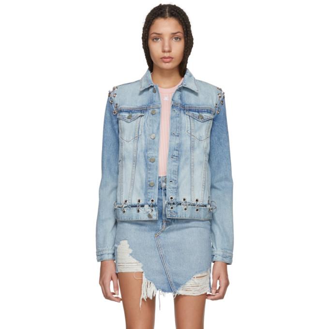 Image of Grlfrnd Blue Gia Hardware Denim Jacket