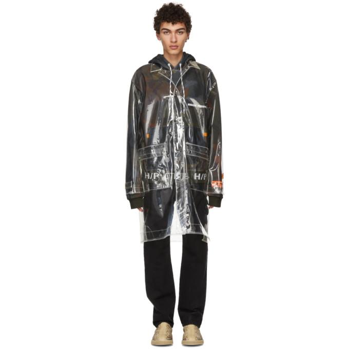 Heron Preston Transparent PVC Heron Rain Coat