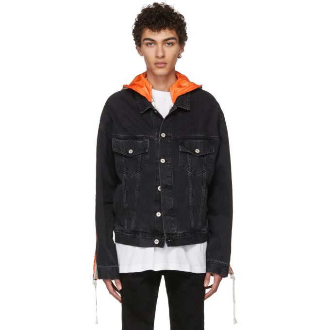 Heron Preston Black Parachute Denim Jacket