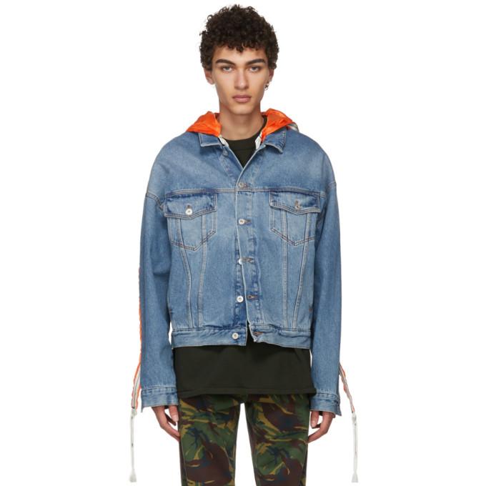 Heron Preston Blue Parachute Denim Jacket