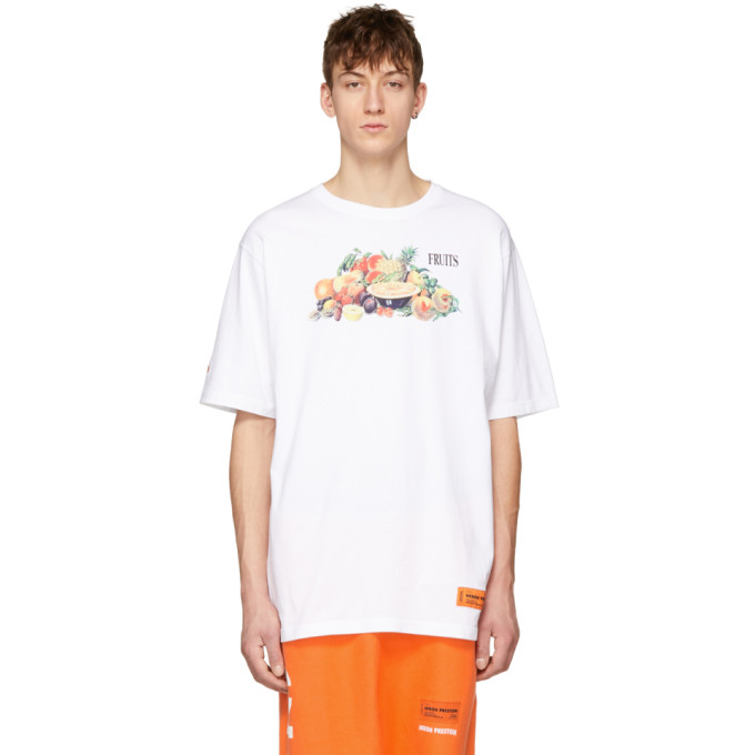 Heron Preston White Fruits T-Shirt