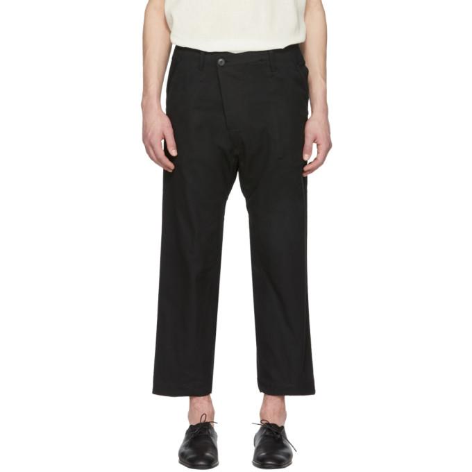 Image of Jan-Jan Van Essche Black Drop Trousers
