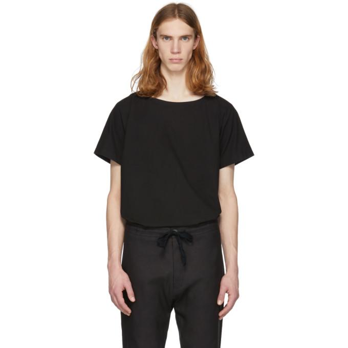 Image of Jan-Jan Van Essche Black Cotton T-Shirt