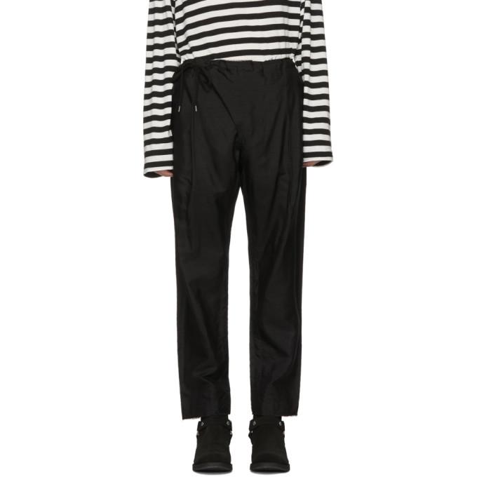 Image of TAKAHIROMIYASHITA TheSoloist. Black Crossover Pyjama Trousers