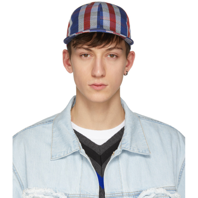 Image of Name. Blue & Red Woven Stripe Cap