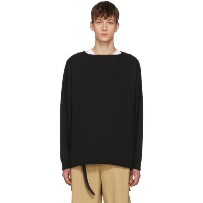 Image of Name. Black Unfinished Hem Sweatshirt