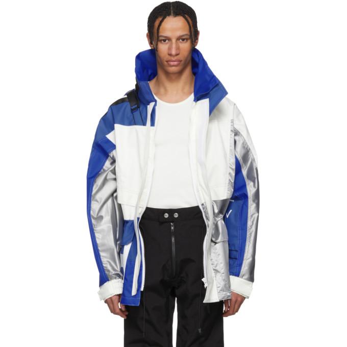 GmbH Blue & White Helly Hansen Edition Jeenu Anorak Coat